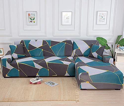 Fundas de sofá elásticas para Sala de Estar Sofá en Forma de L Necesita Comprar 2 Piezas Funda de sofá Funda de sofá de Esquina elástica Fundas A22 2 plazas