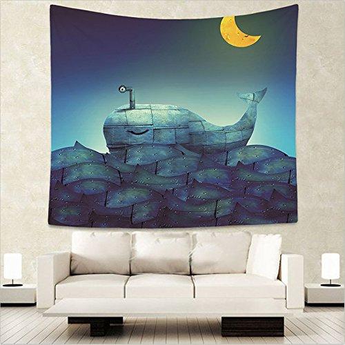 jtxqe Tapiz Decorativo Manta impresión Digital Manta de Pared Toalla de Playa Selva Cielo Estrellado 130x150cm