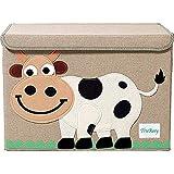 Gran caja de almacenamiento con tapa, plegable y resistente, ideal...