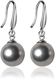 Best grey pearl drop earrings Reviews