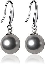 JOYID 10mm Ocean Pearl Dangle Earrings Natural Shell Beads Drop Earrings Fashion Jewelry for Women