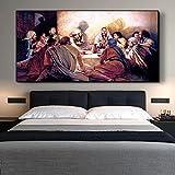 Pinturas abstractas de la última cena, cuadro en lienzo, arte de pared en lienzo para el hogar, cart...