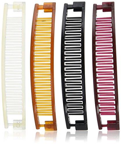 Goody Classics Clincher Comb, 5  (35955) Assorted Colors (Pack of 4)