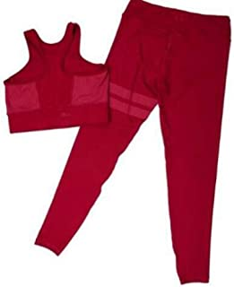 XFKLJ Sports Bra Yoga Pants Women Yoga Set Gym Clothing 2 PCS Sports Leggings Bra Workout Sport Gym Suits Women Fitness Se...