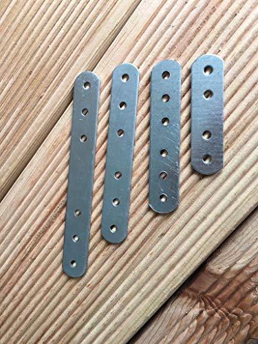20pcs. Plat pour vêtements réparation connecteur Raccord de plaque 60mm x 16mm