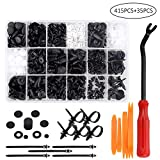 Remaches Plastico, Preciva Clips Coche para Guardabarros Coche, Plastico Panel, etc ( 415 Pcs )