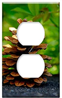 Switch Plate Outlet Cover - Pine Cones Pine Tree Tap Close Conifer Macro 2