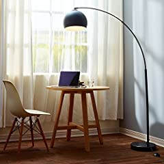 STYLE: The Arquer arched floor lamp is designed with smooth curves and mid-centaury modern style. This minimalistic lamp will blend in with any décor and is perfect for living rooms, dining areas, and studios. STURDINESS: The heavy marble base makes ...