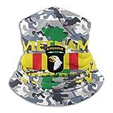 101st Airborne Vietnam War Veteran Outdoor Mouth Mask Windproof Sports Face Mask Dust Shield Scarf Men Woman Neck Warmer Black