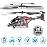 KOOWHEEL RC Hubschrauber, Fernsteuerungshubschrauber mit Kreisel und LED-Licht 3.5 Kanal gyro Single Mini Military Series Hubschrauber ferngesteuert für Kinder RC Hubschrauber Spielzeug