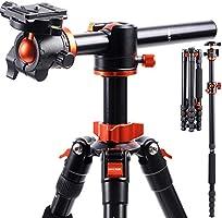 K&F Concept 170cm Kamerastativ, TM2515T1 Stativ mit 90 Grad Mittelsäulen Einbeinsativ-Funktion, 360° Kugelkopf und 1/4''...