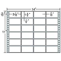 東洋印刷 タックフォームラベル 14インチ ×11インチ 24面付(1ケース500折) MH14W