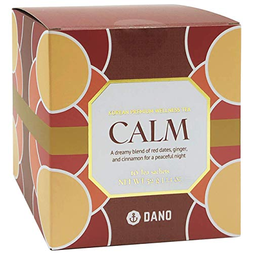 Dano Cinnamon Stress Relief Tea - Calming Korean Herbal Tea New Year Self-care Gifts For Relaxation, Better Sleep, w/ Ginger, Red Dates, Caffeine-free (16 Tea bags)