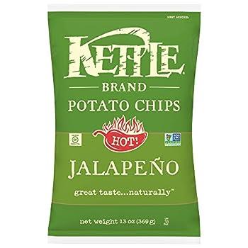 Kettle Brand Potato Chips Jalapeno Kettle Chips Sharing Size 13 Oz
