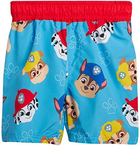 Nickelodeon Toddler Boys Paw Patrol Swim Trunk Board Shorts, Paw Patrol Faces, Size 2T