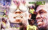 Kunst Poster Usain Bolt schnellster Rekord Läufer, Sport