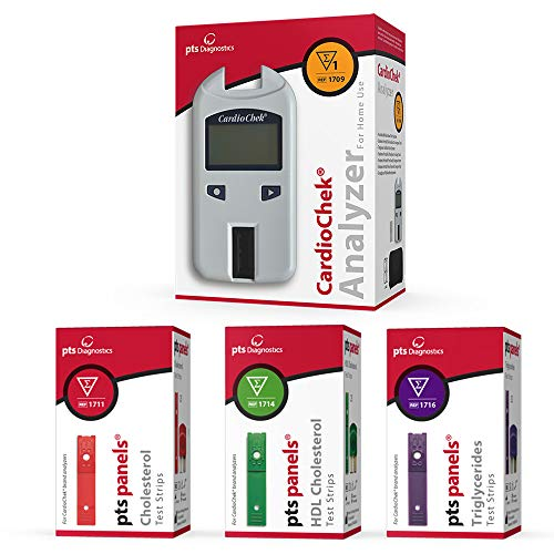 Cardio Chek Deluxe Cholesterol Kit includes home analyzer,cholesterol test strips(total,hdl,trig) by CardioChek