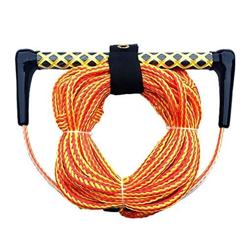 N\\A 15-Zoll-Floating-Griff-Wasser-Ski Wakeboard Kneeboard Seil for Boating 3-Section Wasserski Wassersport Rope Für Kayak (Farbe : Orange)