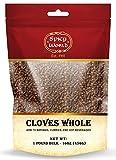 Whole Cloves Bulk 1 Pound Bag - Great for Foods, Tea, Pomander Balls,...