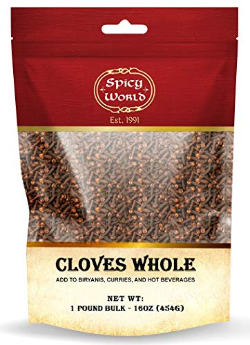 Whole Cloves Bulk 1 Pound Bag - Great for Foods, Tea, Pomander Balls, and even Potpourri - by Spicy World