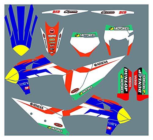 Yhfhaoop DST0941 Pegatinas de Motocicleta 3M Personalizadas Pegatinas Gráficos Gráficos Kit de decancia gráfica para KTM SX SXF 2019-2020 EXC XC XCF 2020-2021