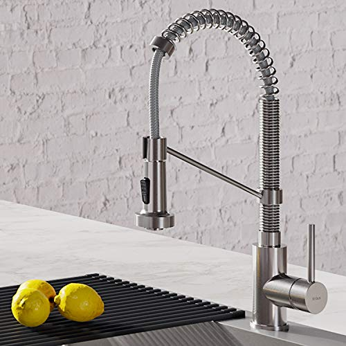 Kraus KPF-1610SS Bolden 18-Inch Commercial Kitchen Faucet with Dual Function Pull-Down Sprayhead in...