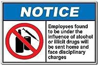 ヴィンテージティンサイン壁の装飾の影響下にあることが判明、壁サインアート鉄絵レトロな金属プラーク装飾カフェバーのスーパーマーケットの食堂の警告標識