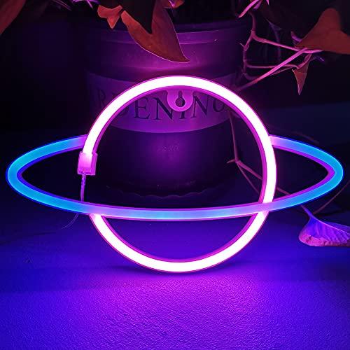 Bipily Luci al neon Insegne luminose al neon LED Applique da parete al neon Batteria/USB artistica neon decorazione per Natale Matrimonio Party
