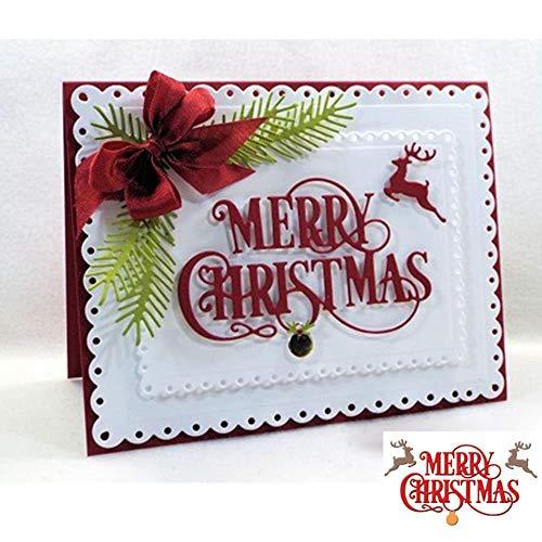 Vrolijke Kerst Zinnen Snijden Die Scrapbooking Card Album Foto Maken DIY Sjabloon Handgemaakte Decoratie Embossing Stencil