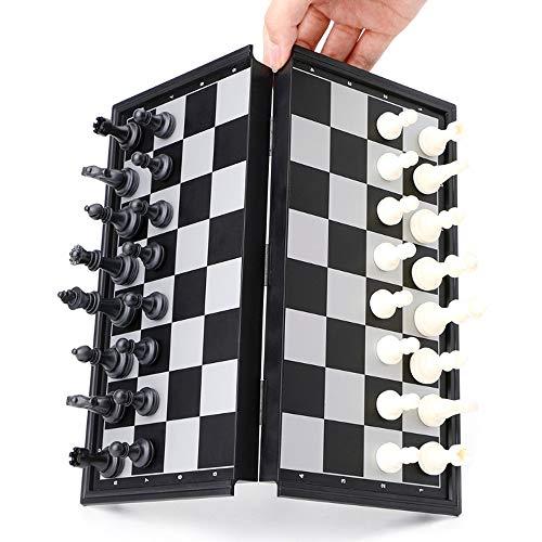 サントレード チェスセット 磁石付き 折りたたみ式 チェスゲーム マグネットチェス 持ち運び便利 省スペース 子供 大人 ゲーム用