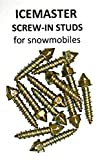 Tork INS Products ICE Masters Screw-in Studs for Snowmobiles, w/Tool- 3/4' Length, Improves Traction - 100-250 - 500 Count Packs (100)