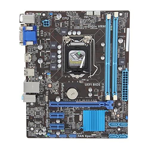 BEROVE Fit for ASUS H61M-A Desktop Board LGA 1155 DDR3 16G I3-3220 E3-1230 V2 Motherboard para Gaming Pc