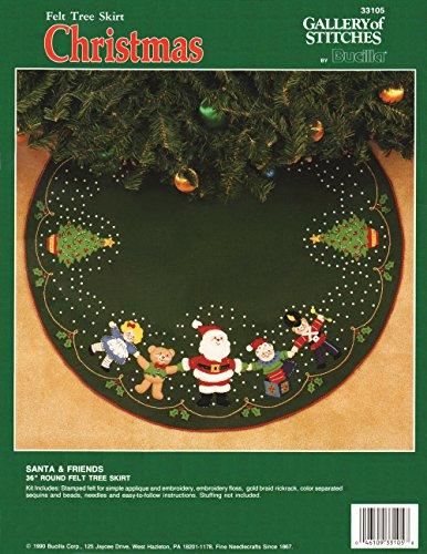 Bucilla 'Santa and Friends' Felt Applique Tree Skirt Kit 33105