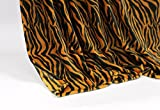 Feinste Mikrofaserdecke Kuscheldecke Tagesdecke, extra dick mit Silk/Cashmere Touch, ca. 150 x 200 cm, Tiger