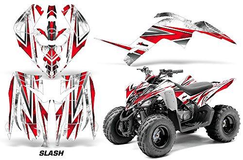 AMR Racing ATV Graphics kit Sticker Decal Compatible with Yamaha Raptor 90 2009-2015 - Slash Red