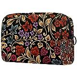 Floral azul flor maquillaje bolsa para bolso portátil organizador de viaje bolsa para artículos de tocador bolsa de belleza, Multicolor 10, 18.5x7.5x13cm/7.3x3x5.1in, Neceser de viaje