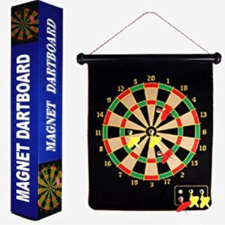 yimeihao Magnetic Dart Board Set -Child Dart Board- 15 in can roll up Dart Board- Safe and Interesting Darts (6pcs) - for Family and Competition Best Toy
