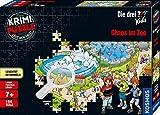 KOSMOS 697990 - Krimi Puzzle: Die ??? Kids - Chaos im Zoo, Leuchtet im Dunkeln. 150 Teile, Lesen - Puzzeln - Rätsel lösen, für Kinder ab 7 Jahre