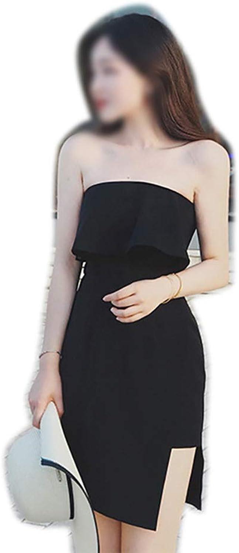 Sylviaan YY6 Womens Off the Shoulder Black Sexy Evening Dress Holiday Short Dress
