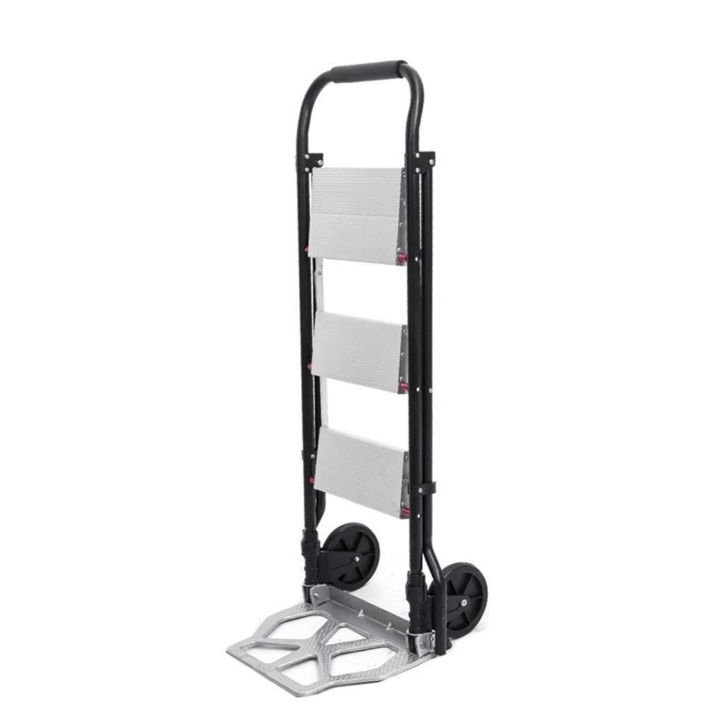 JYTBD Yun Tao Plegables de múltiples Funciones de la Carretilla Inicio Escalera Mini-Carta Escalera de Aluminio de aleación de 40 kg de Soporte de Carga: Amazon.es: Hogar