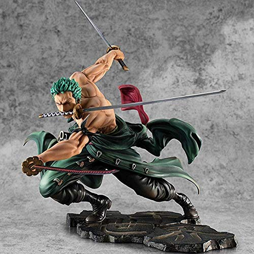N / A Anime One Piece Roronoa Zoro Figure Three Blades SA-Maximum Ver. Collezione di Statuette in PVC Modello 18 cm Figurine