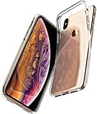 Spigen 057CS22118 Liquid Crystal Kompatibel mit iPhone XS Hülle, iPhone X Hülle, Transparent Silikon Handyhülle Schutzhülle Hülle Crystal Clear