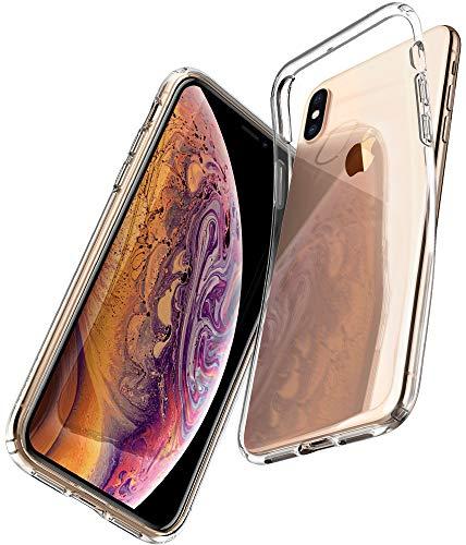 Spigen Funda Liquid Crystal Compatible con iPhone XS y Compatible con iPhone X - Transparente
