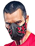 Sparthos Training Mask High Altitude Mask – for Gym Workouts, Running, Cyclist, Elevation, Cardio - Fitness Training Mask - Hypoxic Resistance Mask 2 3 – Urban Lung Exercise [Red Camo + Case]