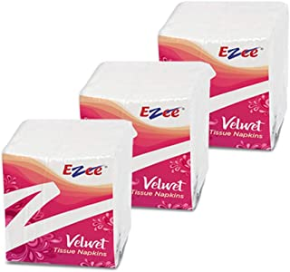 Ezee Tissue Paper Napkins - 100 Pieces (Pack of 3/300 tissues)