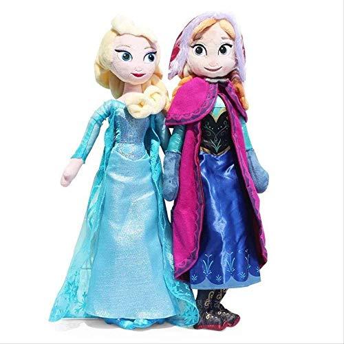 LMSX Frozen Schneekönigin Prinzessin Anna & ELSA Plüschtiere 50Cm, Sammlung Puppen Kinder Mädchen Geburtstagsgeschenke 2St
