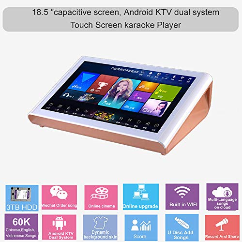Fantastic Prices! HAJURIZ 18.5'' capacitive touch screen Karaoke Machine,3TB HDD Preloaded With 60K ...