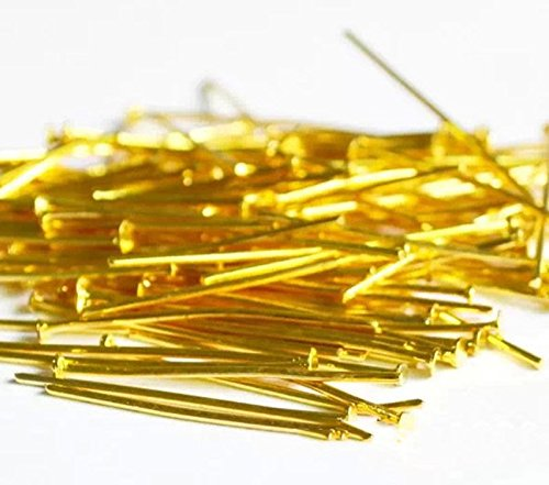 500 Pieces DIY Craft Sequin Pins Gold or Silver, Sequin Pins for Crafts, 28 mm (Golden)
