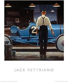 Birth of a Dream Jack Vettriano Vintage Racing Car Sport Print Poster 15.75x19.5