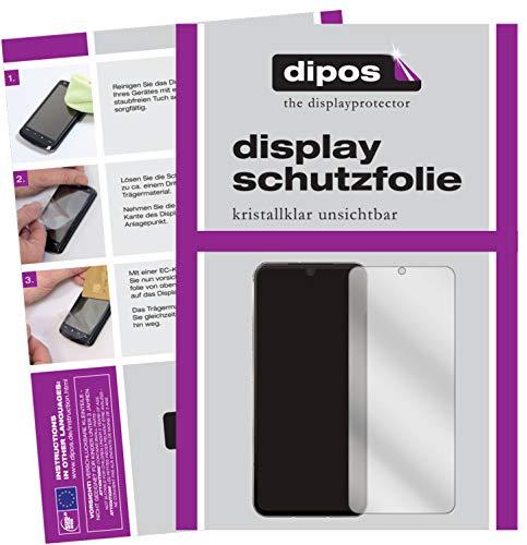 dipos I 2X Schutzfolie klar kompatibel mit LG V60 ThinQ 5G Folie Bildschirmschutzfolie (bewusst Kleiner als das Glas, da Dieses gewölbt ist)